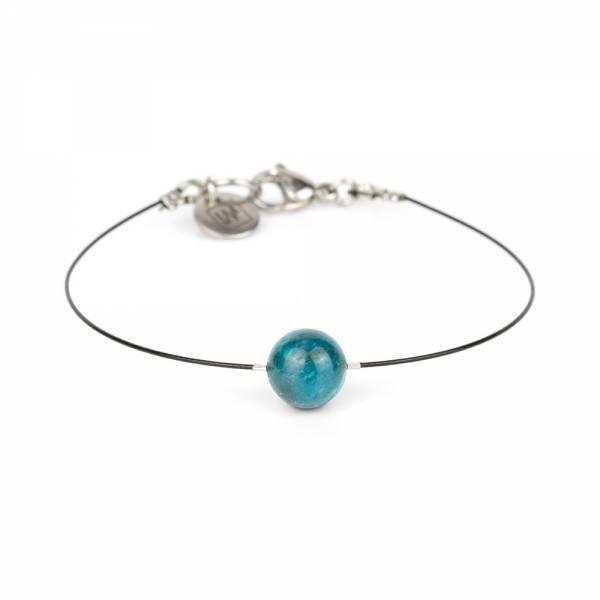 """""""Apatite Mini Cosmo"""" - Women's Beaded Minimalist Bracelet, Zodiac Bracelet, Stainless Steel"""