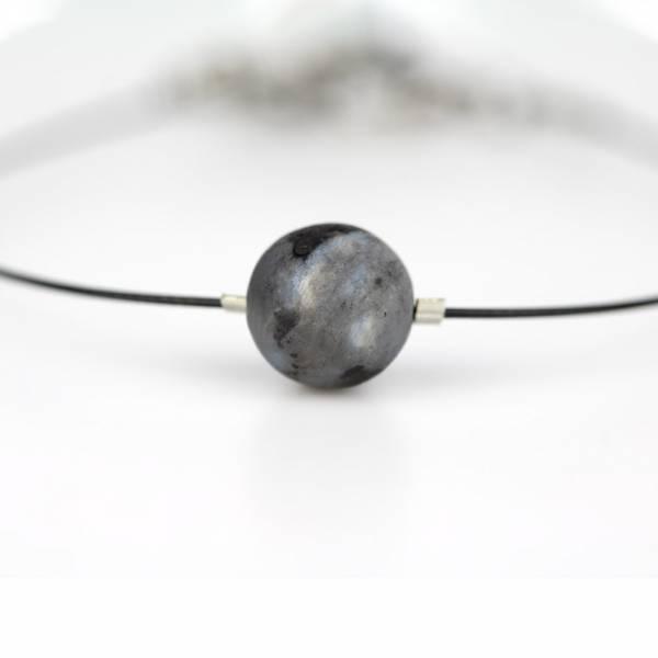 """Black Labradorite Mini Cosmo"" - Women's Beaded Minimalist Bracelet, Zodiac Bracelet, Stainless Steel"