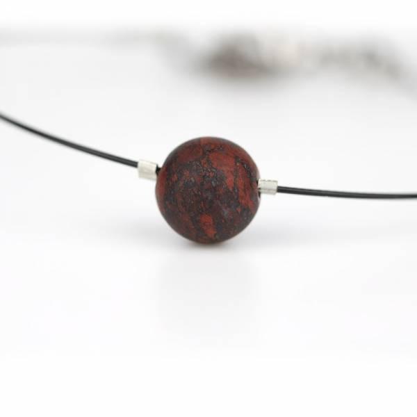 """Brecciated Jasper Mini Cosmo"" - Women's Beaded Minimalist Bracelet, Zodiac Bracelet, Stainless Steel"