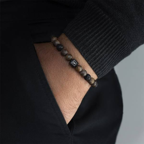 Calm After The Storm Beaded Stretch Bracelet