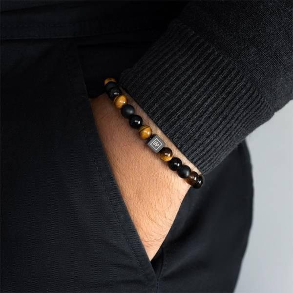 Endurance Beaded Stretch Bracelet on men hand