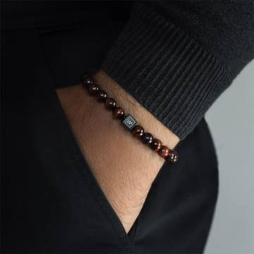 fire tiger beaded stretch bracelet 3