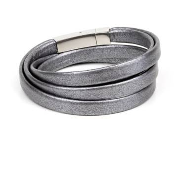graphite leather bracelet 2