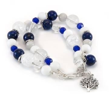 Blue Ocean Sky Beaded Bracelet