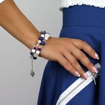 blue ocean sky beaded bracelet 3