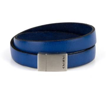 Blue Wind Double Leather Bracelet