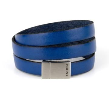 Blue Wind Triple Leather Bracelet