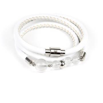 Clarity Beaded Leather Bracelet