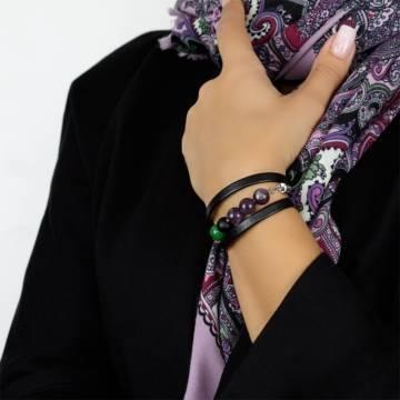 forest tale beaded leather bracelet 7