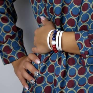 french elegance beaded leather bracelet 3