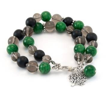 Green Clouds Beaded Bracelet