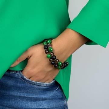 green clouds beaded bracelet 3