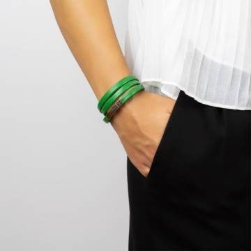 green leather bracelet 3