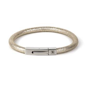 ice gold fancy leather single bracelet 1