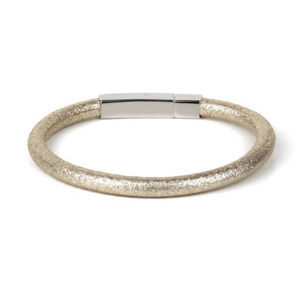 Ice Gold fancy leather bracelet