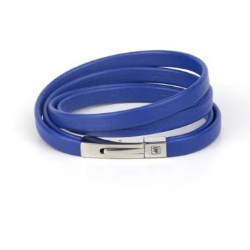 Immortal Blue Leather Bracelet
