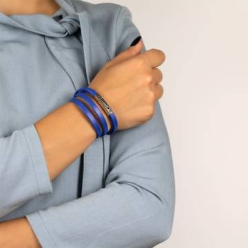 imortal blue leather bracelet 3