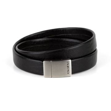Less Is More Double Wrap Leather Bracelet