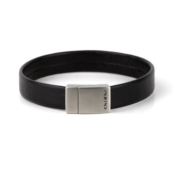 """""""Less Is More"""" - Leather Bracelet, Single Wrap Stainless Steel Clasp"""