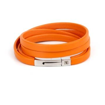 Orange Happiness Leather Bracelet