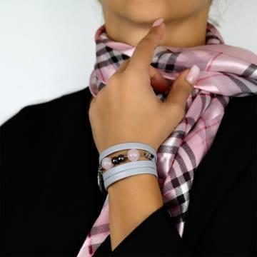 pink queen beaded leather bracelet 5