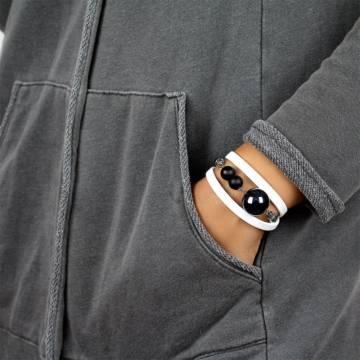 power of positivity beaded leather bracelet 4