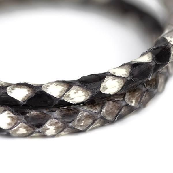 Naturl Python Leather Double Wrap Bracelet