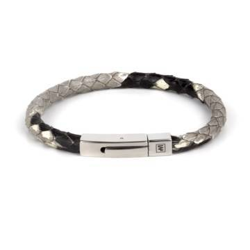 Naturl Python Leather Single Wrap Bracelet