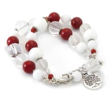 red emotion beaded bracelet