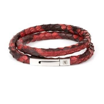 Red Python bracelet