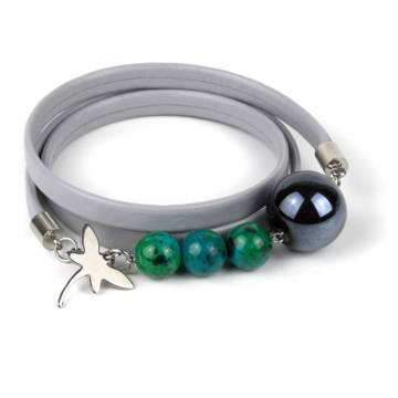 Shallow Water Beaded Leather Bracelet