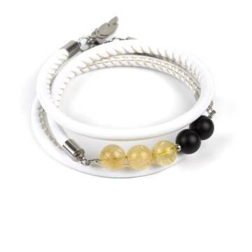 Sunshine Prosperity Beaded Leather Bracelet