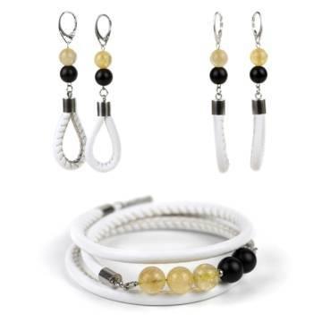 Sunshine Prosperity Bracelet and Earrings Set
