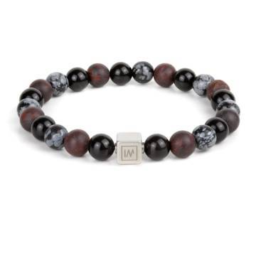 Time For Action Beaded Stretch Bracelet for MEN