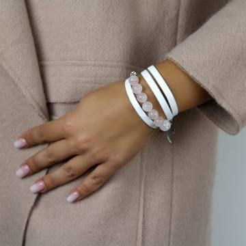 unconditional love beaded leather bracelet 3