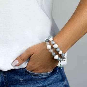 white fortune beaded bracelet 3