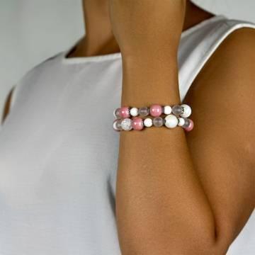 white pink beaded bracelet 3