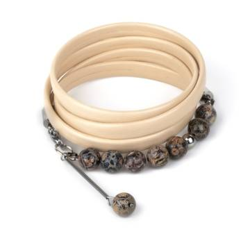 Wild Peace Beaded Leather Bracelet