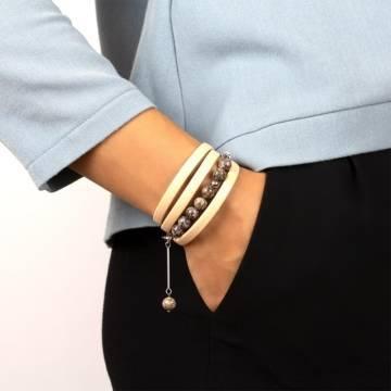 wild peace beaded leather bracelet 3