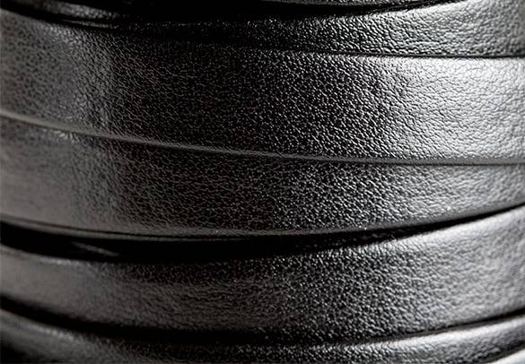 Flat Black Leather 10mm