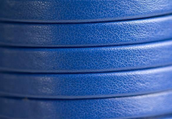 Flat Blue Leather