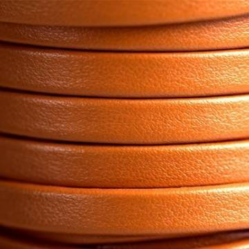 Orange Flat Leather