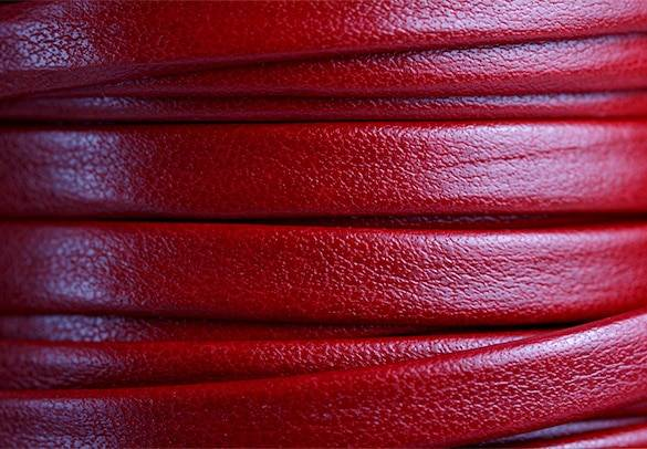 Red Flat Leather