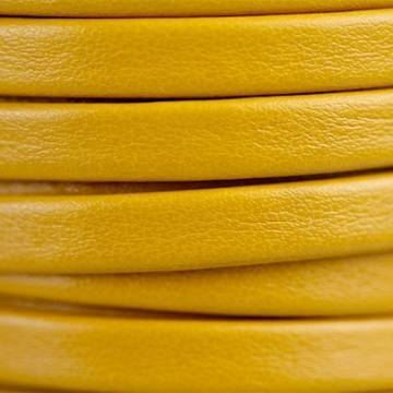 Flat Yellow Leather