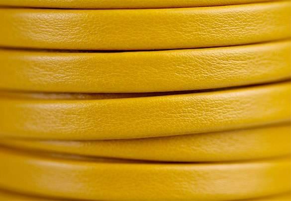 Flat Yellow Leather