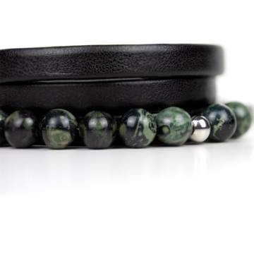 kambaba beaded leather bracelet 2