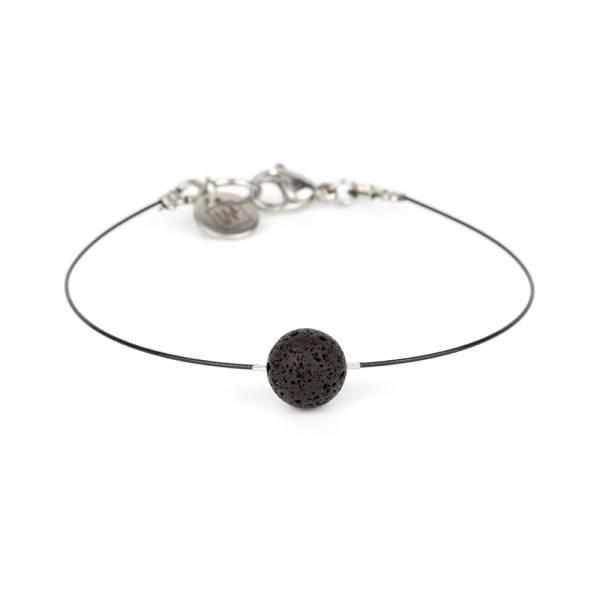 """Lava Stone Mini Cosmo"" - Women's Beaded Minimalist Bracelet, Zodiac Bracelet, Stainless Steel"