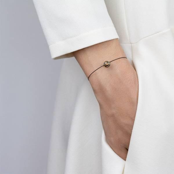 """""""Leopard Skin Jasper Mini Cosmo"""" - Women's Beaded Minimalist Bracelet, Zodiac Bracelet, Stainless Steel"""