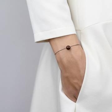 mahogany obsidian mini cosmo beaded bracelet 2