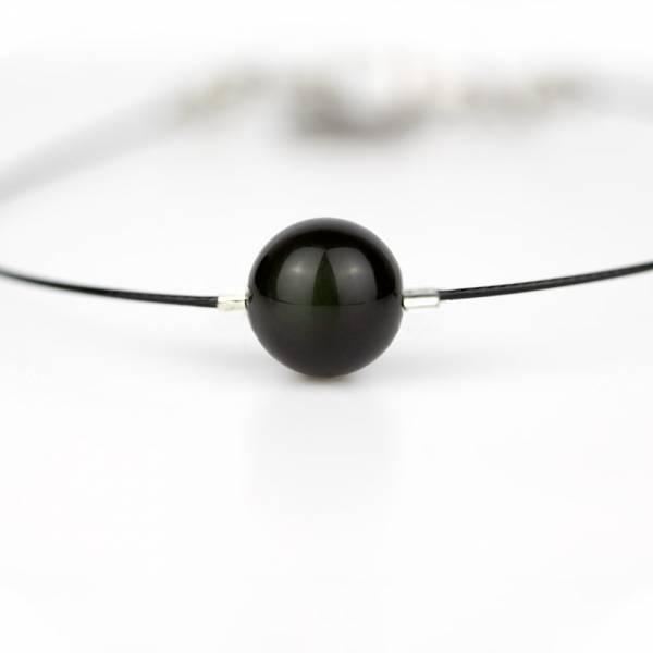 """Obsidian Mini Cosmo"" - Women's Beaded Minimalist Bracelet, Zodiac Bracelet, Stainless Steel"